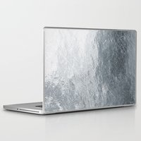 silver Laptop & iPad Skins featuring Silver by Patterns and Textures