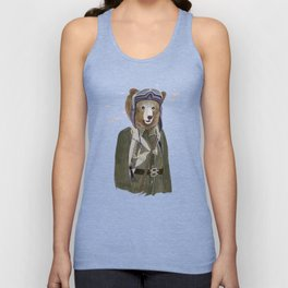 Aviator Bear Unisex Tank Top