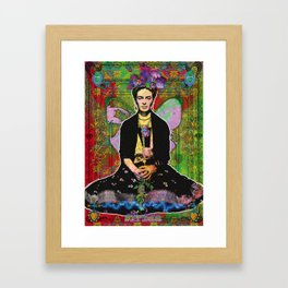 Frida Flower Framed Art Print