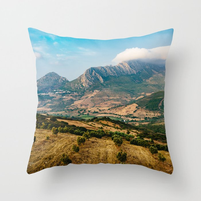 Jebel Musa (Morocco) Throw Pillow