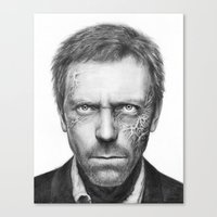 house md Canvas Prints featuring House MD by Olechka