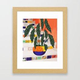 Dotted begonia #illustration Art Print Framed Art Print