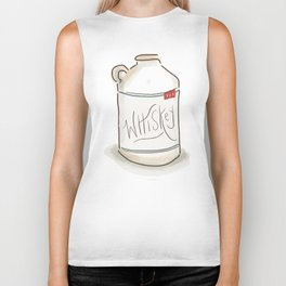 Whiskey Illustration  Biker Tank