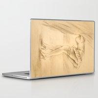 erotic Laptop & iPad Skins featuring Erotic - Girl in lingerie by Marita Zacharias
