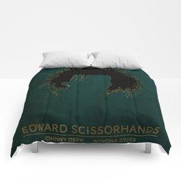 Edward Scissorhands Poster Comforters