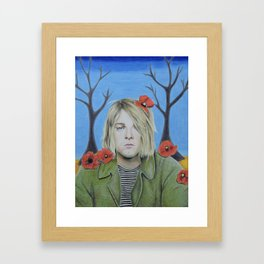 Kurt C Poppy Flower design II colored pencil (more prints/products available) Framed Art Print