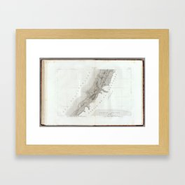 Old Historic State of Palestine Map Framed Art Print