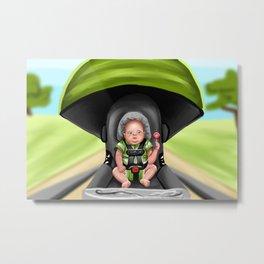 Surprised Baby Metal Print
