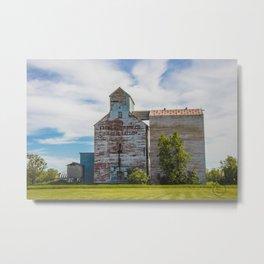 Grain Elevator, Golden Valley, North Dakota 1 Metal Print