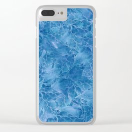 Frozen Leaves 18 Clear iPhone Case
