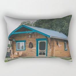 Moose Cabin Rectangular Pillow