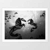 sea horse Art Prints featuring Sea Horse by JPeG