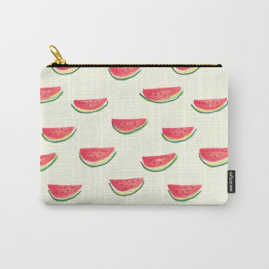 Watercolor Watermelon Carry-All Pouch