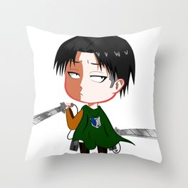 "Chibi Captain Levi (Rivaille) from ""Attack On Titan""/""Shingeki No Kyojin"" Throw Pillow"