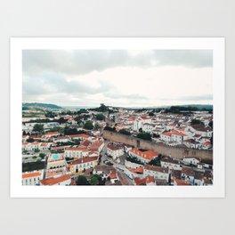 Aerial of Óbidos, Portugal Art Print