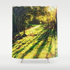 Trippy Backyard Escape Portal Shower Curtain