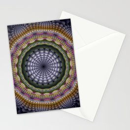 Mandala with optical effects and tribal patterns Stationery Cards