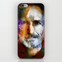 steve jobs iPhone & iPod Skins featuring Steve Jobs by Richard Michaud