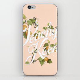 Peachy Keen : Peach iPhone Skin