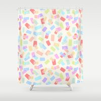 tape Shower Curtains featuring Washi Tape by Kristin Nohe Juchs