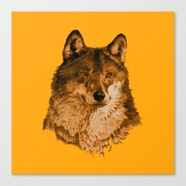 Season of the Wolf - A Study in Gold1 Canvas Print