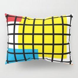 Modern geometric background, red, yellow, green,orange and blue  #society6 #decor #buyart #artprint Pillow Sham