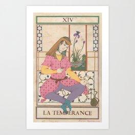 Tarot Card-The Temperance Art Print