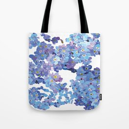 Periwinkle Flowers-Floral Design-Style 3-by Hxlxynxchxle Tote Bag
