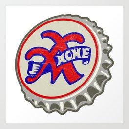 Vintage Acme Cola Soda Pop Bottle Cap Art Print