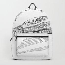 F16 Cutaway Freehand Sketch Backpack