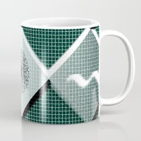 pyramid Mugs featuring Pyramid by MJ Mor