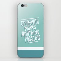 creativity iPhone & iPod Skins featuring Creativity by Chelsea Herrick