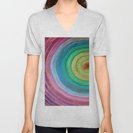 Grainbow Cool Colors Unisex V-Neck