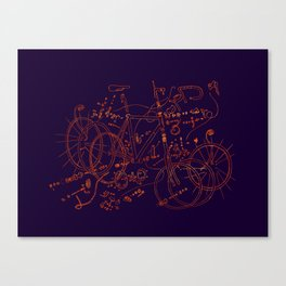 Exploded Diagram Canvas Print
