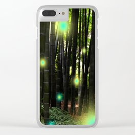 Bamboo Spring Lights Clear iPhone Case