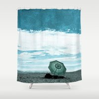 alone Shower Curtains featuring Alone by Sandy Broenimann