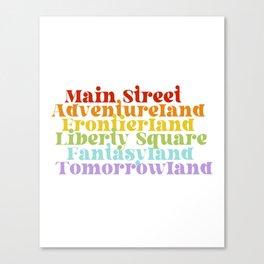 Retro Magic Kingdom Typography Canvas Print