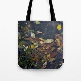 Leaves in the Water Tote Bag