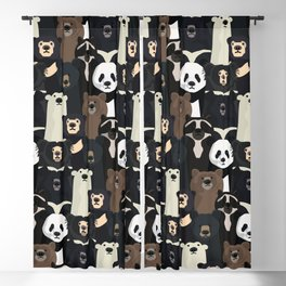 Bears of the world pattern Blackout Curtain