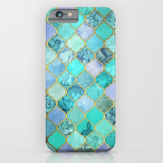 Cool Jade Amp Icy Mint Decorative Moroccan Tile Pattern
