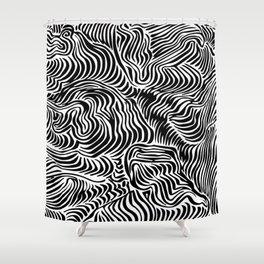 black flow Shower Curtain