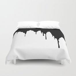 Dripping Ink Duvet Cover