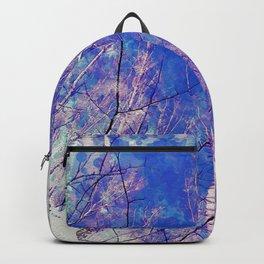 White Trees Light Blue Sky In February Watercolor Backpack
