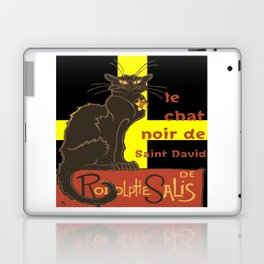 Le Chat Noir De Saint David De Rodolphe Salis Laptop & iPad Skin