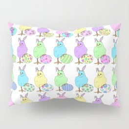Easter Chicks White Pillow Sham