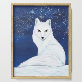 Holiday Arctic Fox Serving Tray