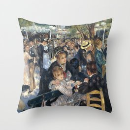 BAL DU MOULIN DE LA GALETTE - RENOIR Throw Pillow