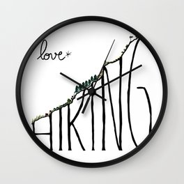 Love Hiking Wall Clock