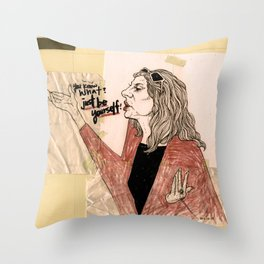 """just be yourself!"" Throw Pillow"