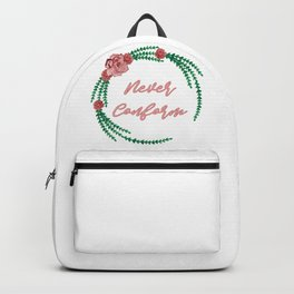 Never Conform - A lovely floral print Backpack